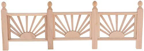 Unbemalte Mini-Holzzaun-Barriere für 1/12 Puppenhaus-Zimmer-Artikel Fairy Garden Accessoire
