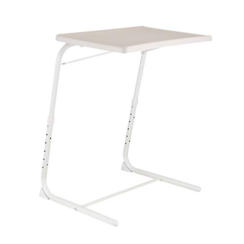 IILOOK Outdoor Dining Table Barbecue, Party And Picnic Table Foldable Laptop Bed Desktop Bed Desktop Tray Folding Camping Table (White)