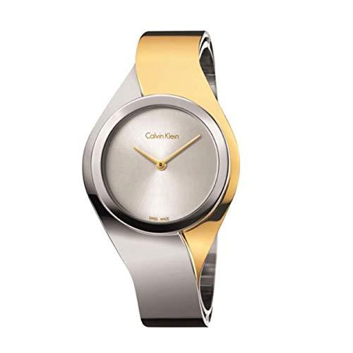 Calvin Klein K5N2M1Y6 - Reloj de Pulsera para Mujer, Dos Tonos, Dorado y Plateado