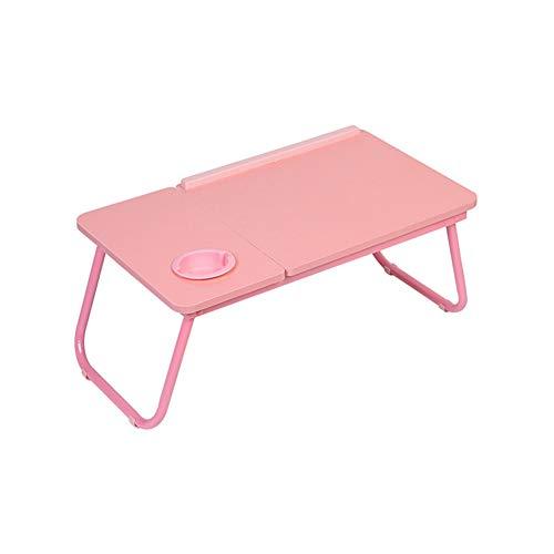 Laptop Desk, een ontbijt met Bed Pallets, verstelbare Opvouwbare met Flip Top Binnenlandse Zaken Pro Lap Desk,Pink