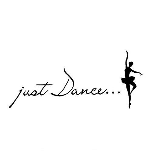 TOPofly Just Dance Wall Art Inspiration Zitate und Sagen: Home Decor-Abziehbild-Aufkleber-1 für Convenience
