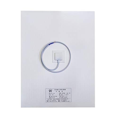 cdhgsh Membrana antiniebla Baño Ducha Maquillaje Espejo Película Protectora Almohadilla térmica Transparente A #