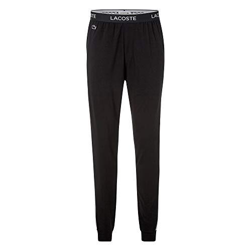 Lacoste Herren 3H9954 Pyjamahose, Männer Pyjama-Unterteil,Schlafanzughose,Jogginghose,Sweatpants,Loungewear,Schwarz,L