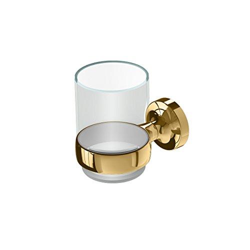 Geesa bekerhouder klei, metaal, kleur: goud