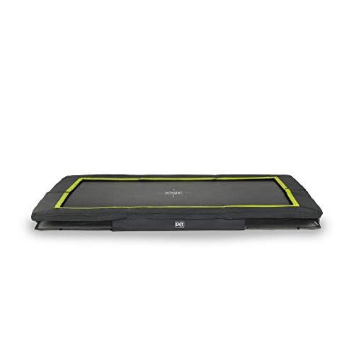 EXIT Silhouette Bodentrampolin 214x305cm - schwarz