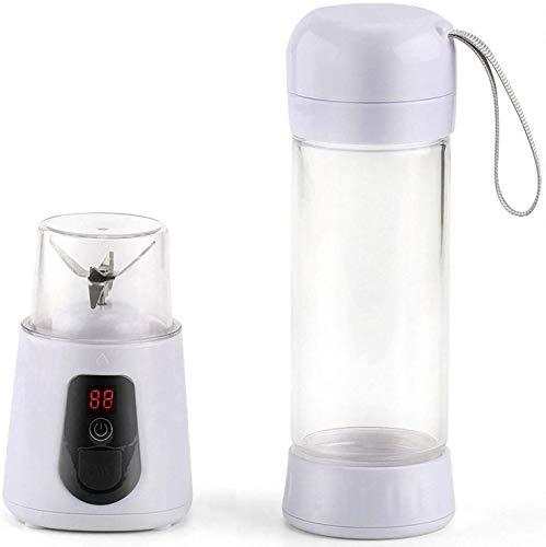 Frullatore portatile, frullatore per frullati, con bottiglia/spremiagrumi ricaricabile USB, frullatore per frullati, frullatore da viaggio, 420 ml, 6 lame