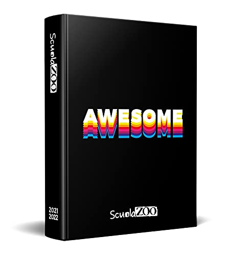 ScuolaZoo Agenda Diario scolastico 2021-2022 con meme e adesivi, disponibile con 6 copertine e 2 dimensioni (Awesome, 13x17 cm)