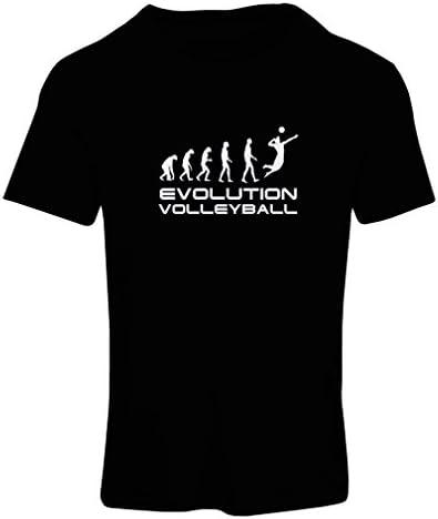 lepni.me Camiseta de la Historia y la Evolución del Juego de Voleibol para Mujer