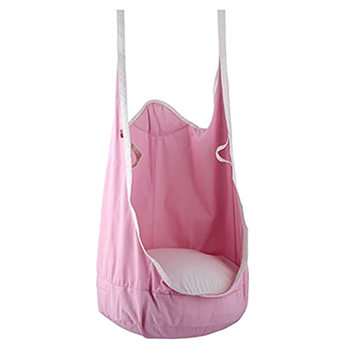 LQWE Silla Swing Pod para Niños 100% Algodón Hamaca Silla con Cojín de Aire Duradero, Nido de Columpio para Niños Patrón para Interiores Y Exteriores 135x78cm