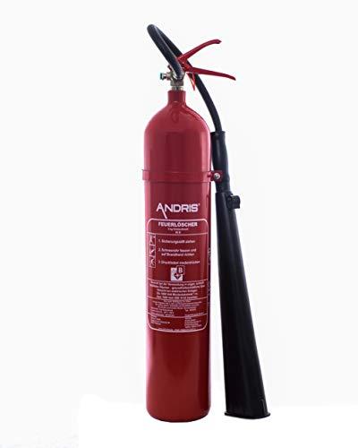 Feuerlöscher 5kg CO2 Kohlendioxid mit Schneerohr EDV geeignet EN 3 inkl. ANDRIS® Prüfnachweis & ANDRIS® ISO-Symbolschild