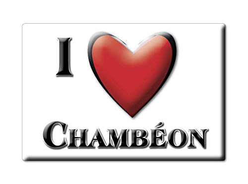 Enjoymagnets CHAMBÉON (42) Souvenir IMANES DE Nevera Francia Bretagne IMAN Fridge Magnet Corazon I Love