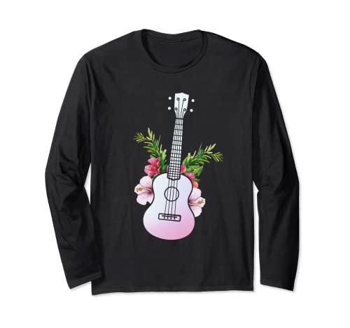 Ukelele Guitarra Hawaii - Instrumento Hawaiano Ukulele Manga Larga