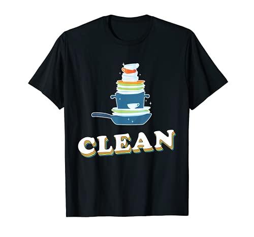 Montagne de vaisselle Maître de la vaisselle Amoureux de la T-Shirt