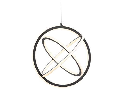 JONATHAN Y JYL7211A Orbit 16.5' Adjustable Integrated LED Metal Pendant Contemporary Dimmable, for...