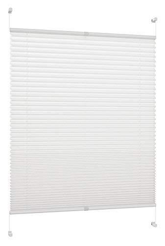 DecoProfi Plissee, Stoff, Weiß, 50 cm x 130 cm