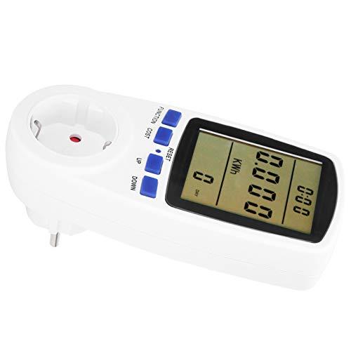 Socobeta Enchufe de medición Monitor de Electricidad Digital Funciones de Alarma Enchufe de medidor de Potencia Oficina de Alta definición para Cocina casera(#1)