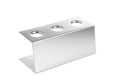 HENDI Eiswaffelständer, für 3 Waffeln, Eistütenhalter, Waffelhalter, Eisständer, Eishalter, 200x95x(H)85mm, Edelstahl