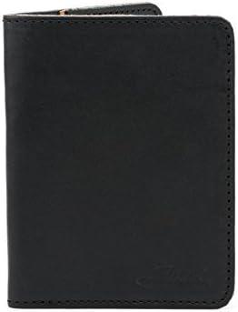 Details about  /Marlondo Leather PASSPORT WALLET Black Pig Skin Lined Saddleback Like Quality