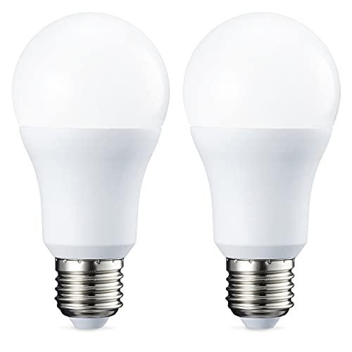 Amazon Basics Lampadina LED E27, 10.5W (equivalenti a 75W), Luce Bianca Calda, Dimmerabile - Pacco da 2