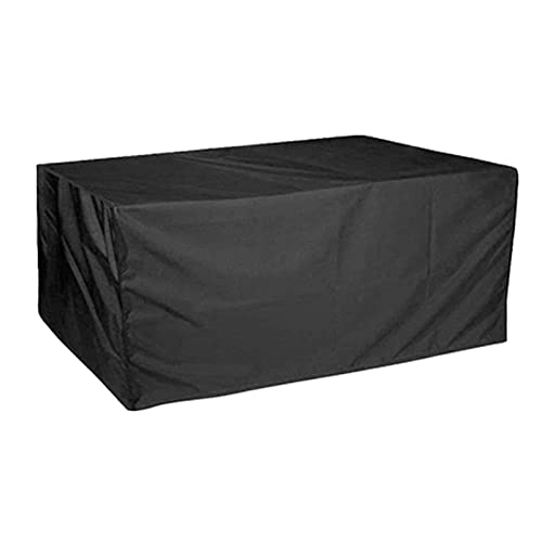 AWSAD Cubierta de Muebles de Jardn Impermeable Mesa Exterior Funda Cubierta 210D Oxford de Muebles Patio para Silla Mesa Funda de Sofá de Ratán (Color : Negro, Size : 60X60X60cm)