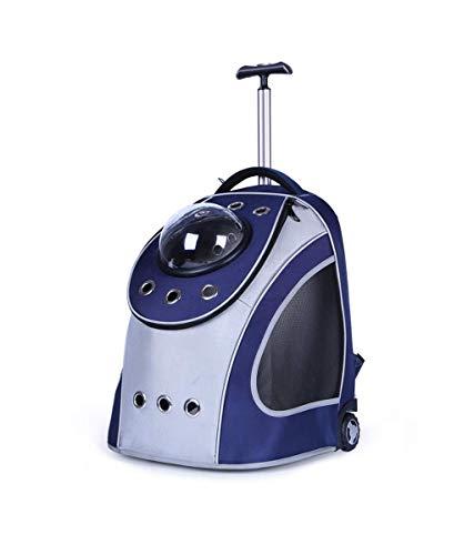 LXYUCWB Pet Bag Breathable Trolley multifunctionele rugzak grijs-blauw (geschikt voor 10 kg katten en honden)