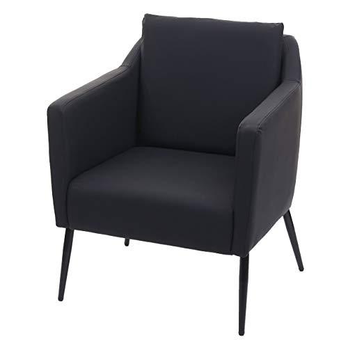 Mendler Lounge-Sessel HWC-H93a, Sessel Cocktailsessel Relaxsessel - Kunstleder schwarz