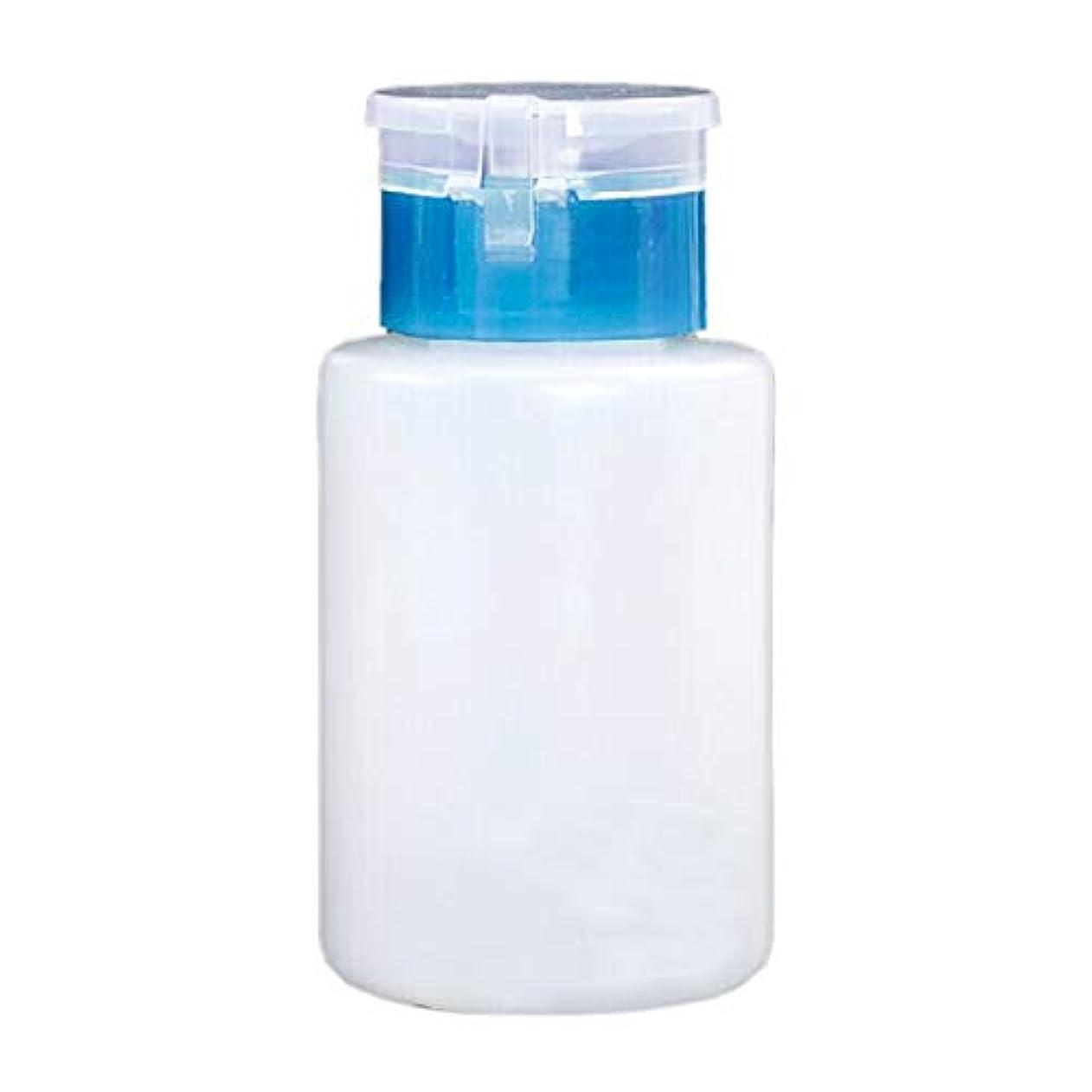 マーキーアンタゴニストデコレーションMoligh doll 150MLネイルオイルボトル メーク落としアセトンポンプ ディスペンサーボトル(ブルー)