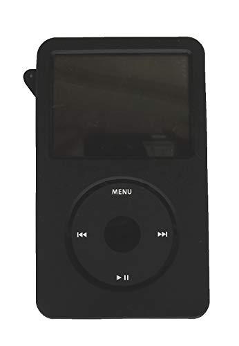 Aiboco Black Silicone Case for iPod Classic 160GB 120GB 80GB Thin Model 6th 7th gen and Video 30GB