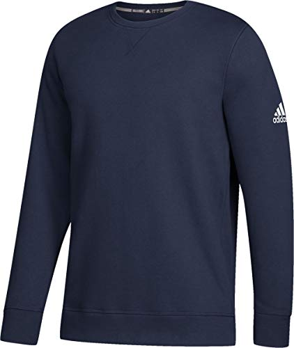 adidas Climawarm Fleece Crew Top Mens Multisport XL Collegiate Navy-White