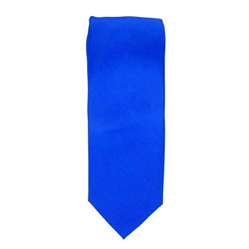 Cotton Park - Cravate 100% soie bleue royale - Homme