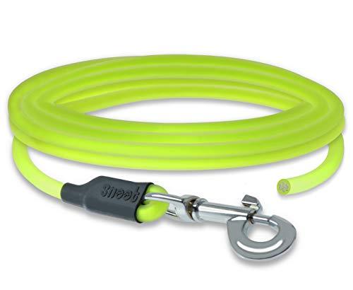 SNOOT 5m Rundleine, Schleppleine, Neon-Gelb, Hundeleine, Trainingsleine, sehr stabil, schmutz- und wasserabweisend