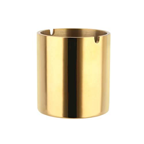 zxb-shop Cenicero Moda Creativa Engrosada 304 Cenicero de Oro de Acero Inoxidable Cenicero Personalizado Bar KTV Oficina Hogar Cenicero Cenicero sin Humo (Size : L)