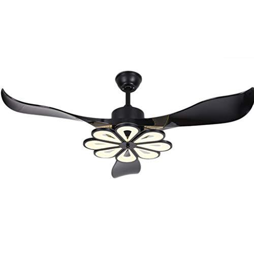 Luz de ventilador de techo retro Ventilador de techo creativo con lámpara Moderno Conversión de frecuencia Ventilador de techo con kits de lámpara LED y control remoto 56 pulgadas Luz del ventilador d