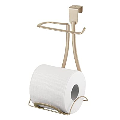 InterDesign Axis Toilet Paper Holder for Bathroom Storage, Over the Tank
