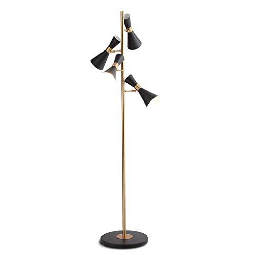 Estilo Lámpara de pie Europeo de la sala dormitorios con giratoria Cuerno Lámpara de Ahorro de Energía