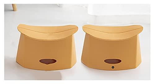 LJWLZFVT Silla de Camping Plegable Taburete Plegable, Adecuado para jardín Cocina Patio Silla Plegable al Aire Libre Adultos y niñosadapta fácilmente a 75 kg-Amarillo 32x18x18.5cm