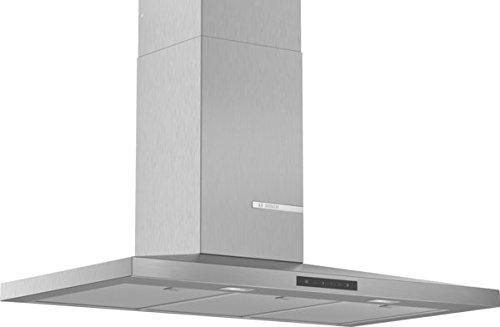 Bosch DWQ96DM50 Hotte murale Slim Pyramide Série 4, 4 vitesses d'aspiration dont 1 intensive, 90 cm, 220 W, Inox