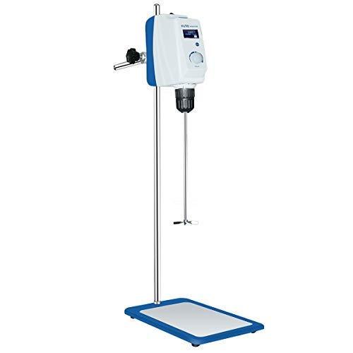 +UXI Overhead Stirrer Mixer 30-2200rpm Lab Labotary LCD Digital Overhead Electric Powerful Lab Stirrers Mixer Grinder Homogenizer Mix Industrial 10000mPas 20L(H2O)