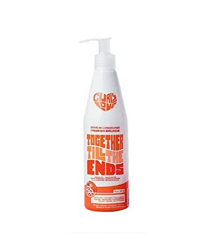 Curly love leave in conditioner 450ml - Acondicionador Sin Aclarado - Hidrata, Desenreda y Protege el Cabello Rizado Tipo 2B a 3B, Sin Sulfatos, Parabenos y Siliconas