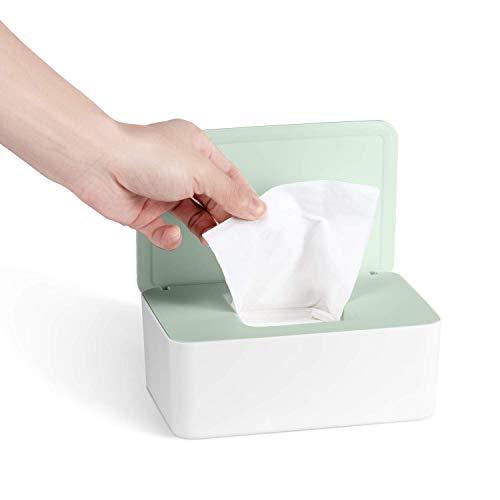 Feuchttücher Box, Baby Feuchttücherbox, Kinder Tücher Fall Toilettenpapier Box Tissue Aufbewahrungskoffer Taschentuchhalter Auto Kunststoff Feuchttücher Spender Tücherbox Serviettenbox