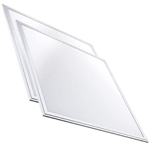 Pack 2x Luminaria Panel LED 60x60 cm, 40W Ultrafino. Color Blanco Frio (6500K). Idoneo Techo Modular. 3600 Lumenes.