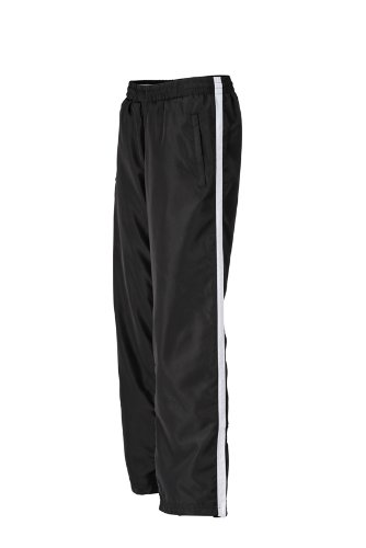 JAMES & NICHOLSON Laufhosen Ladies Sports Pants - Pantalons - Maternité Femme, Blanc (Black/White) - XS (Taille Fabricant: XS)