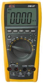HTC Instrument DM-97 3 3/4 Digital Multimeter 4000 Counts, Capacitance, Frequency, Temperature