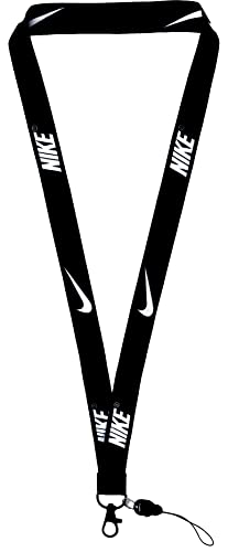 Neck Lanyard Strap for Keychains Keys ID Holder Keys Phones with Quick Release Buckle (Black)