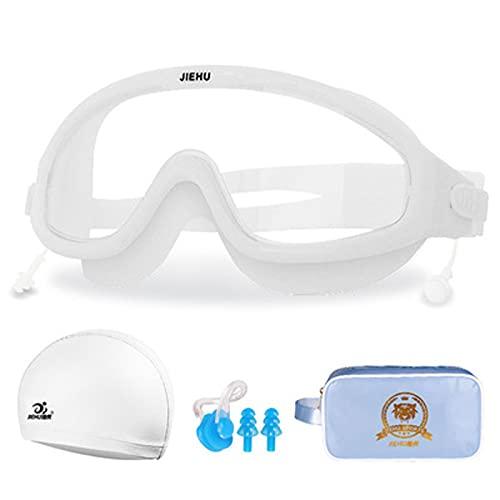 Gafas de Natación Gafas de natación para Adultos Gafas Natacion antivaho Protección UV con Estuche de Almacenamiento – Herméticas y Correa de Silicona Ajustables para Adultos,Hombres,Mujeres,Jóvenes