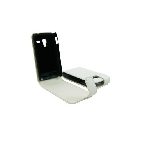CUSTODIA IN ECO PELLE PER SAMSUNG GT-S7500 GALAXY ACE PLUS WHITE