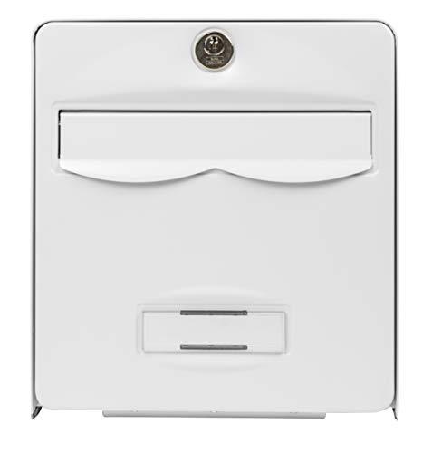 BURG-WÄCHTER, Briefkasten Normalisiert, Stahl verzinkt, mit Tür zu vollständiger Öffnung, Stop-Courrier (Tür blockiert 120 °), 1 Tür, BALthazar, weiß