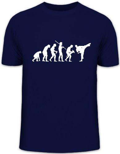 Shirtstreet24, Evolution Judo, Kampfsport Karate Kung Fu Funshirt, Größe: S, dunkelblau