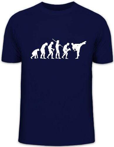 Shirtstreet24, Evolution Judo, Kampfsport Karate Kung Fu Funshirt, Größe: L, dunkelblau