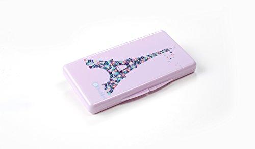 Über Mom Wipebox, Designer Travel Wipe Case (Lavender Eiffel Tower Wipebox)
